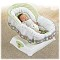 Plush infant insert adds support and comfort for newborns. Gentle gliding motion in low or high speeds.