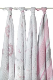 Adent + Anais 4 pck Swaddle For Birds Girls