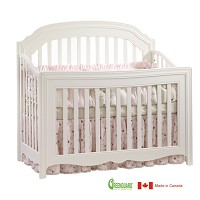 Natart Allegra 5 in 1 Convertible Crib in French White