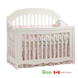 Natart Allegra 4 in 1 Convertible Crib in French White