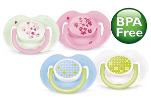 Philips Avent Fashion Infant Pacifier, 2 Pack BPA Free 0-6 Months
