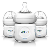 Philips AVENT Natural Baby Bottle, 4oz, Newborn Flow 0m+, 3 Pack