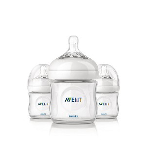 Philips Avent Natural Feeding Bottle, 4oz - 3 Pack