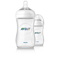Philips AVENT Natural Baby Bottle, 9oz Slow Flow 1m+, 2 Pack