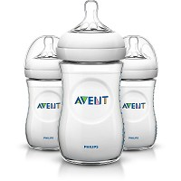 Philips AVENT 9oz Natural Baby Bottles Slow Flow 1m+, 3 Pack