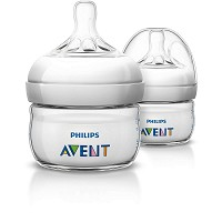 Phillips AVENT Natural Baby Bottle, 2oz First Flow Nipple 0m+, 2 Pack
