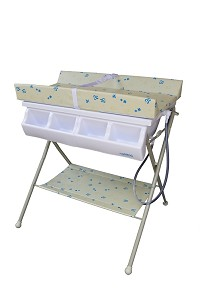 Baby Diego Bathinette Baby Bath & Changing Table Combo - Beige