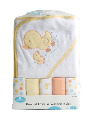 Baby King Hooded Towel and Washcloth Set