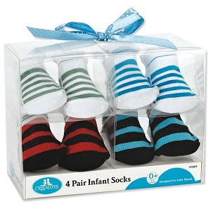 Crib Mates Infant Socks 4 Pairs 0+ Months