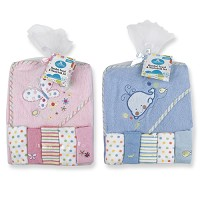 Baby King Hooded Towel & Washcloths Set 0-6 Months