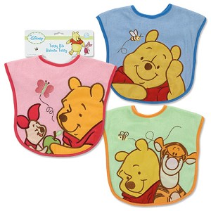 Baby King Large Pooh Bib with Applique