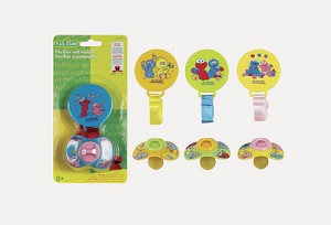 Baby King Sesame Street Pacifier & Holder