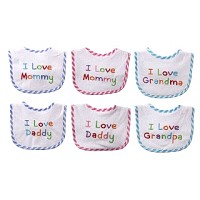 Baby Vision I Love- Embroidered Bib