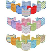 Luvable Friends 8pk Drooler Bibs