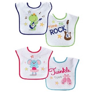 Luvable Friends 2 Waterproof Feeder Bibs