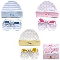 Baby Vision Baby Cap & Bootie Set