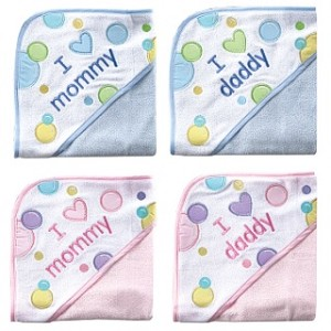 Baby Vision  Appliqued Hooded Towel