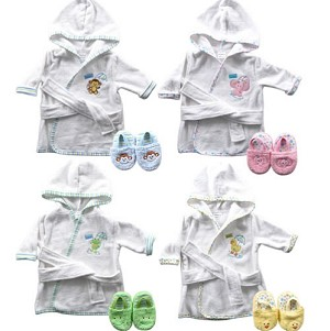 Baby Vision Baby Bath Robe & Slippers