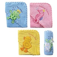 Baby Vision Hooded Bath Wrap Towel
