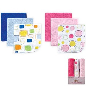 Luvable Friends 3 Pack Washcloths