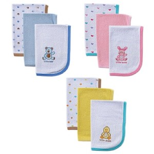 Baby Vision 3PK Hooded Burp Cloths