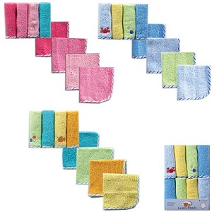 Baby Vision 8 Pack Wash Cloths