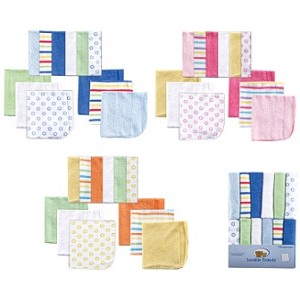 Baby Vision 12PK Luvable Friend Wash Cloths