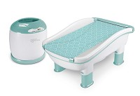 Baby's Journey Comfy Cozy Tub & Towel Warmer Peacock Toss
