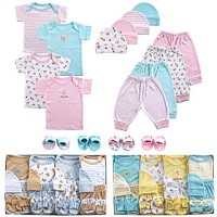 Luvable Friends 16 Pieces  Deluxe Layette Set-Pink