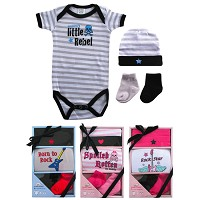 Luvable Friends Rebel Baby 4PC Gift Set