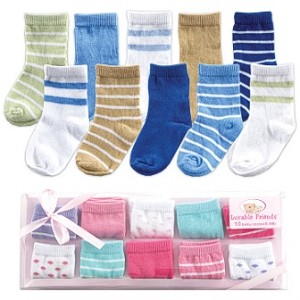 Baby Vision 10 Pair Sox Gift Set