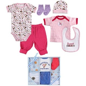 Luvable Friends 6pc Layette Set 0-6 Months