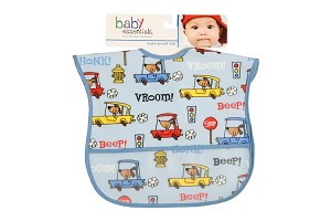 Baby Esentials PEVA Wipe Clean Bib - Dogs and Trains