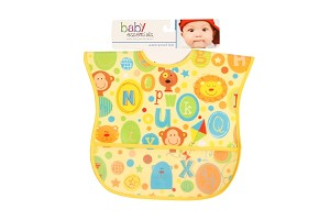 Baby Esentials PEVA Wipe Clean Bib - Alphabet