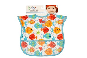 Baby Esentials PEVA Wipe Clean Bib - Fishies
