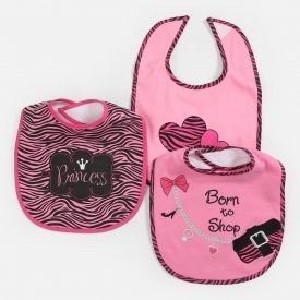 "Baby Essentials ""Born 2 Shop"" 3 Pack Assorted Bibs"