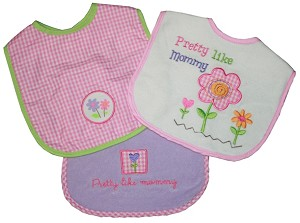 Baby Essentials 3-Pack Girl Mommy Bibs
