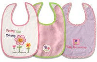 "Baby Essentials Feeder Bibs ""Pretty Like Mommy"" Pink"