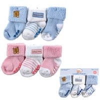 Luvable Friends 3-Pack Socks 0-18 Months