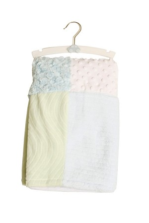 Baby Essentials Plush Patchwork Blanket Blue
