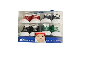 Baby Essentials Hi-Top Boy Sock 4 Piece Set