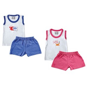 Luvable Friends Tee Top Shirt & Shorts 0-3 Months