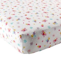 Luvable Friends Garden Fitted Crib Sheet