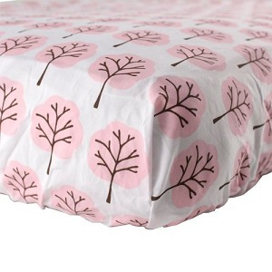 Luvable Friends Printed Woven Crib Sheet Girl
