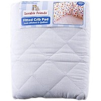 Luvable Friends Quilted Crib Pad Lock-Stiched