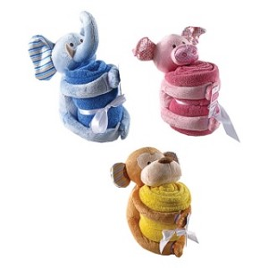 Hudson Baby Plush Animal & Blanket