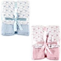 Hudson Baby 2 Pack Muslin Swaddle Blankets