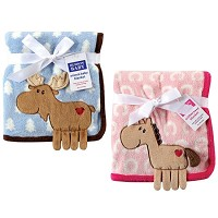 Hudson Baby Coral Fleece 3-D Animal Blanket