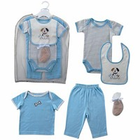 Hudson Baby Gift Collection, 6 Piece Puppy for Boys