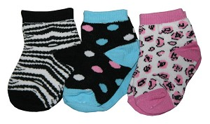 Baby Essentials Leopard 6-Pairs of Socks 18-24 Months Girl